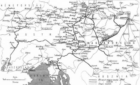 ausztria vasútvonalai térkép 109 sor. gőzmozdony ausztria vasútvonalai térkép